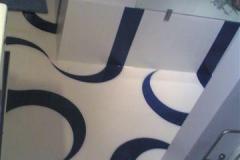 Pavimento in resina con decorazioni